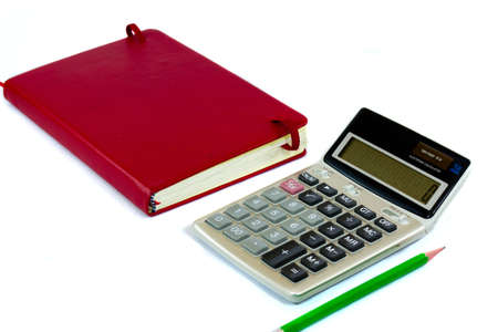 calculator and red book