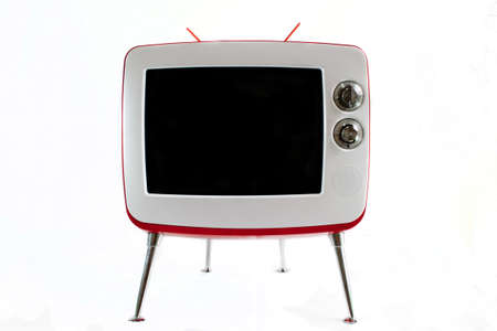 Retro TV over white background photo