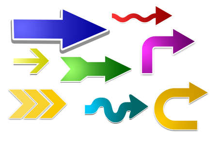 Color-arrows-set Stock Photo - 13582692
