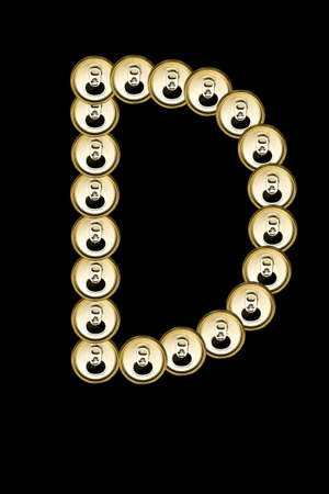 D, Beer aluminum  Can alphabet isolated on black