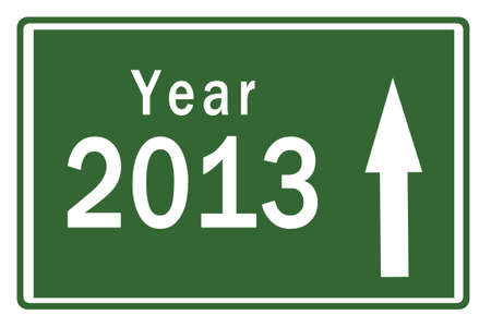 Happy New Year 2013 on Highway Board Stock Photo - 15847674