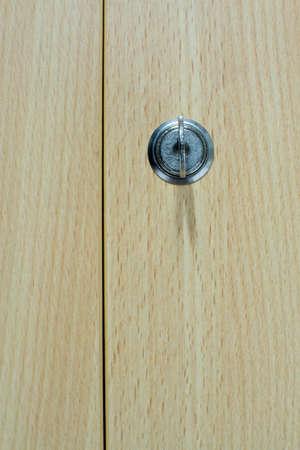 Key in the brown door