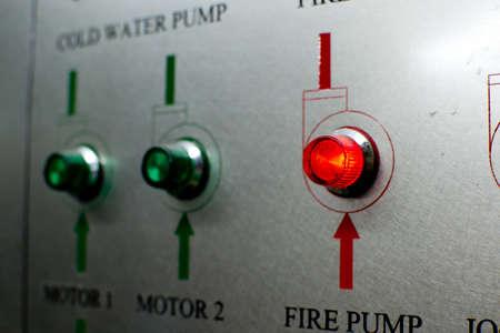 Fire Pump control Stock Photo