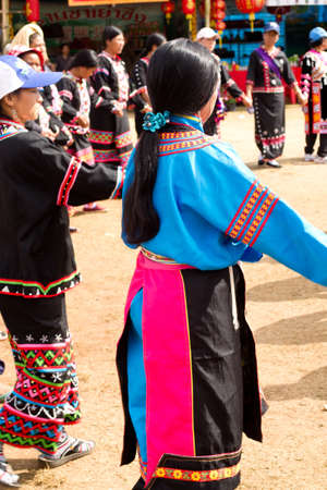 hat new year s eve: Hmong hilltribe New Year Celebration Editorial