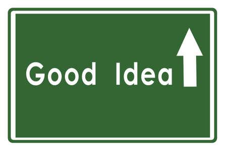 GoodIdea on Highway Board Stock Photo - 17475140