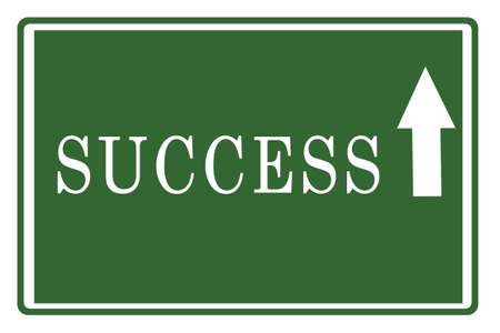 Success on Highway Board Stock Photo - 17475144