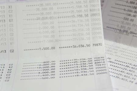 Thai  Saving Account Passbook photo