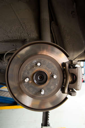 brake disc: car brake disc Stock Photo