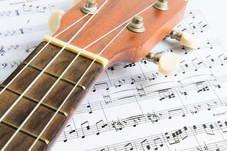 chords: Brown Ukulele on Paper Chords
