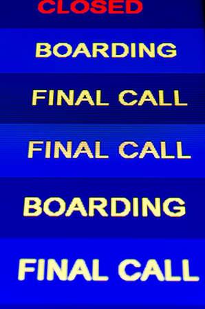 Airport information panel Stock Photo