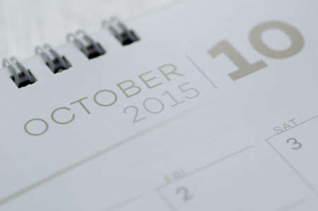 calendar october: Wall Calendar October Stock Photo