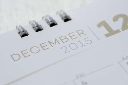 december kalender: Wandkalender december Stockfoto