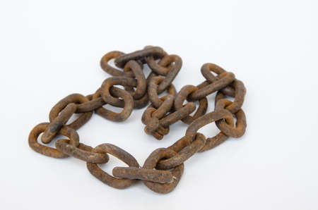 chain: Old chain on white Background