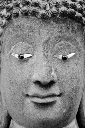 Black and White The faceBuddha in Thailand