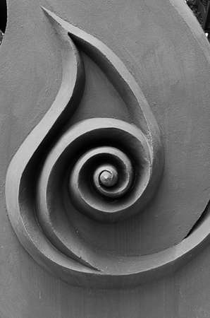 Abstract Black and White Old winding staircase