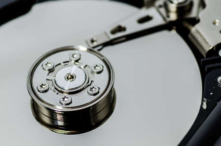 close up of hard disk Stock Photo