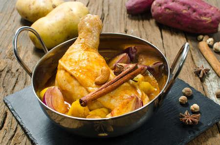 Chicken mussaman curry, thai curry, thai food