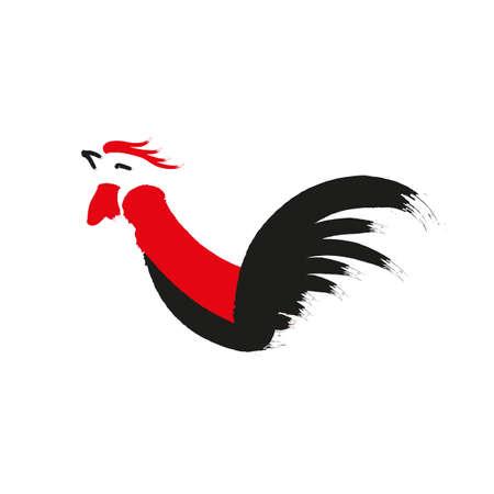 Red paper cut a chicken zodiac