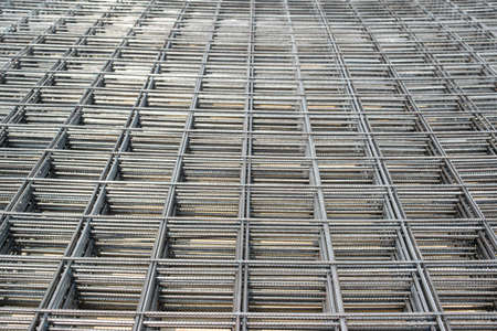 mesh: Steel Bars Stacked For Construction