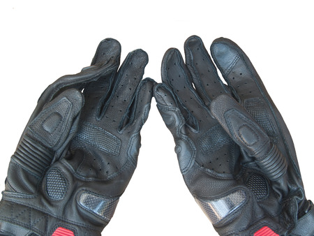 black gloves: black gloves motorcycle isolated on white background,use this before ride