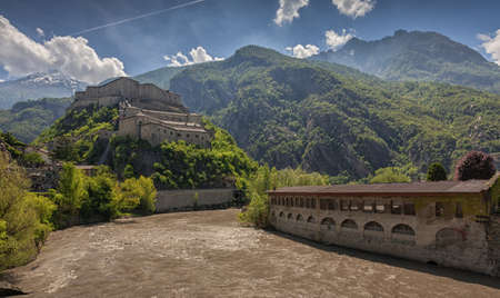 bard: View on the Fortress of Bard, Aosta Valley, Italy