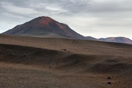 ridge of wave: Volcano and lava desert, Lanzarote, Canary islands