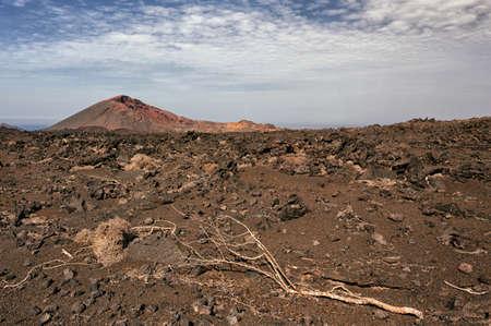Volcano and lava desert, Lanzarote, Canary islands