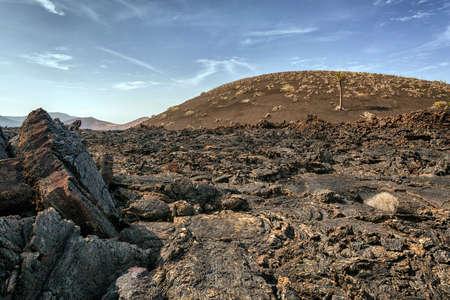 lanzarote: Volcano and lava desert, Lanzarote, Canary islands