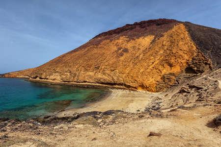 ridge of wave: Wild beach on the La Graciosa, Canary Islands