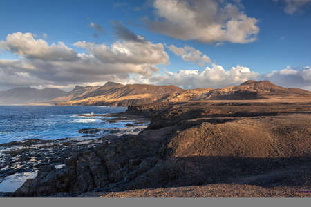 barlavento: Barlavento beach Fuerteventura at Canary Islands of Spain Stock Photo