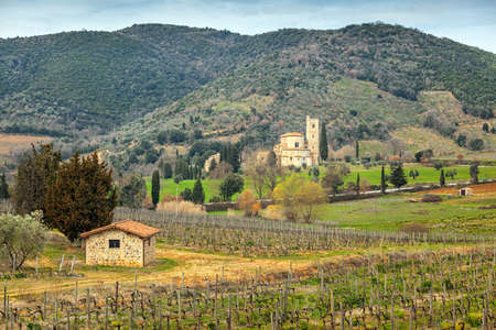 antimo: The Abbey of Sant Antimo is a former Benedictine monastery in the comune of Montalcino, Tuscany.