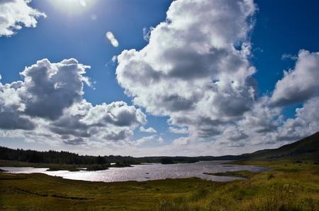 Connemara Landscape, county Galway, Ireland, Derrylea Lough Stock Photo