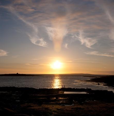 sunset in doolin, county clare, ireland Stock Photo