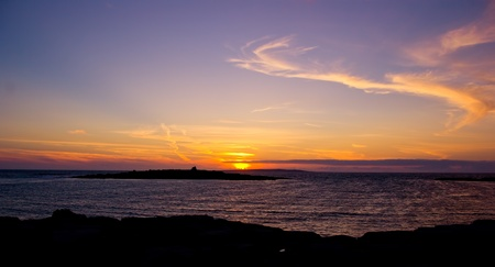 sunset in doolin, county clare, ireland Stock Photo - 9407881