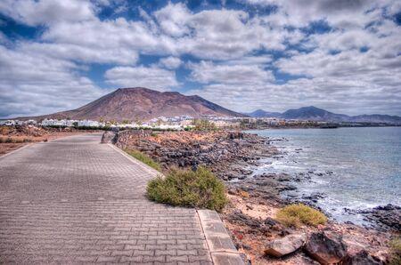 playa blanca landscape on Lanzarote Island