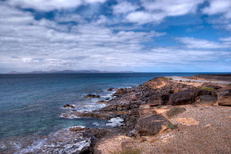 view of Fuerteventura island from Playa Blanca Stock Photo - 9820678