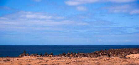 stone pile cairn in playa blanca Stock Photo - 9820670