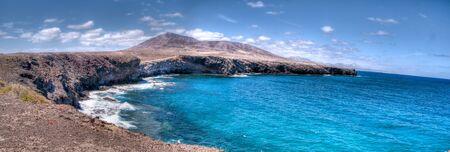 costal landscape in los ajaches, lanzarote, canary islands