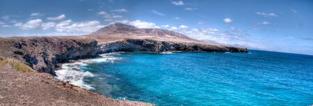 costal landscape in los ajaches, lanzarote, canary islands Stock Photo - 9820691
