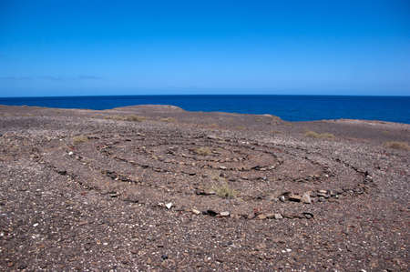 stone circle in los ajaches, lanzarote, canary islands Stock Photo