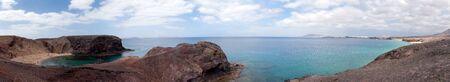 playa papagayo panorama, lanzarote, canary islands