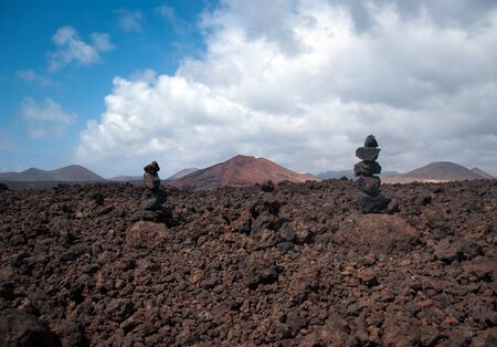stone pile in los hervideros, lanzarote, canary islands Stock Photo - 9820699
