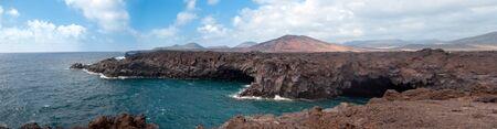 los hervideros cliffs, lanzarote, canary islands Stock Photo