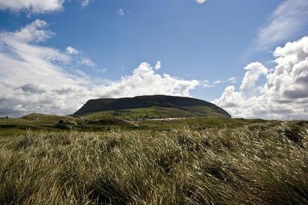 knocknarea mountain from standhill beach, county Sligo, Ireland Stock Photo