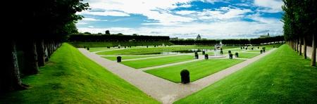 ornamental garden in Villandry, Loire Valley, France Stock Photo