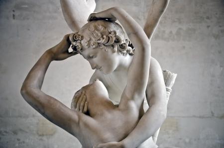 psique: detalle de Cupido y Psique, A. Canova