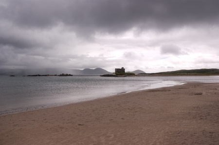 ballinskelligs beach in a cloudy day