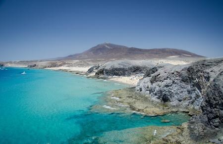 mujeres: playa mujeres from playa papagayo, lanzarote