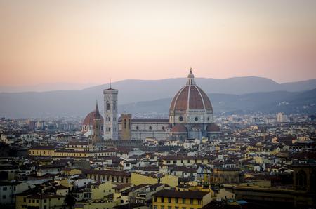 Firenze Santa Maria del Fiore, duomo during sunset Stock Photo
