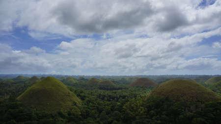 chocolate peak: The Chocolate Hills of Bohol Philippines.